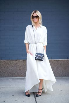 street style: New York Fashion Week Spring 2015 (Chanel bag, Valentino shoes)...