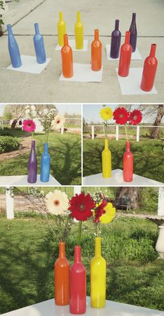 Simple DIY Wedding Centerpieces Using Wine Bottles | Our Blog