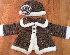 Výsledek obrázku pro crochet baby coat