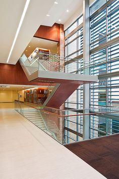 Modern lobby front desk interior design architecture - Interior design firms fort worth tx ...