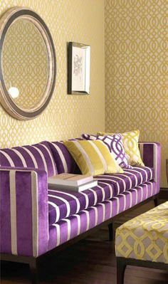 plum and mustard living room - Google Search