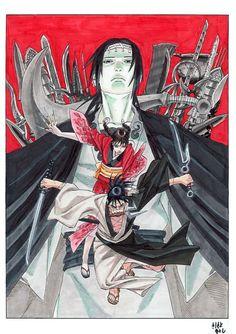 Hiroaki Samura (Blade of the Immortal) in conversation with fawning fanboy Masashi Kishimoto (Naruto) – manga brog Comics Illustration, Illustrations, Character Illustration, Manga Anime, Anime Art, Marvel, Blade Runner, Konoha Village, Anime Shop