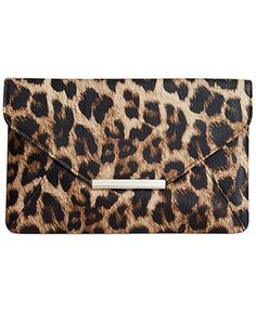 Beautiful animal print clutch. Similar available at http://mandysheaven.co.uk/