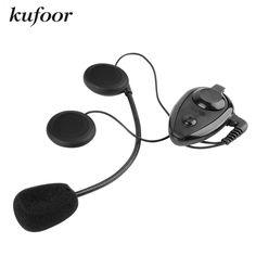 Kufoor 500m Kie Bluetooth Motorcycle Intercom comunicador para capacete Motocross Racing Skiing Helmet Interphone Headset