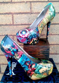The holidays are right around the corner! Comic book shoes..cool!