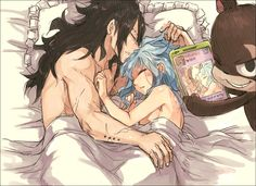 Fairy Tail - Gajeel, Levy and Lily panther - Good morning