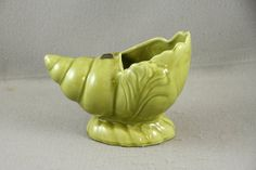 Camark Pottery Planter Vase Conch Shell