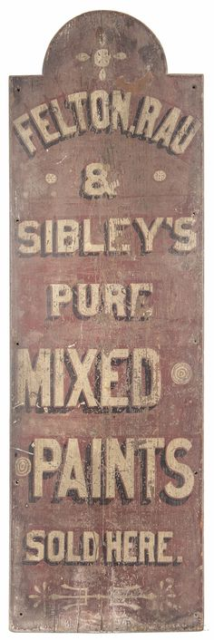 c1900 trade sign
