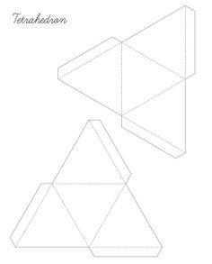 piramide para recortar  ORGONITAS  Pinterest