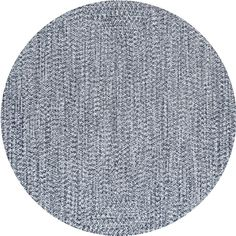 nuLOOM Braided Lefebvre Light Blue Indoor/Outdoor 8 ft. Round Rug-HJFV01D-R808 - The Home Depot