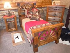 Custom Barnwood Wagon Wheel Bedroom Collection