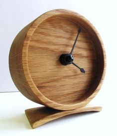 Wood Oak Clock by offcutstudio on Etsy Cnc Projects, Wooden Projects, Wood Crafts, Diy Clock, Wood Clocks, Into The Woods, Wooden Watch, Wooden Art, Made Of Wood