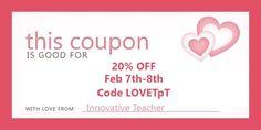 20% OFF Feb 7-8