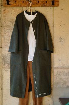 [옷만들기] 치렁치렁 롱셔츠 만들기 : 네이버 블로그 Girl Dress Patterns, Coat Patterns, Blouse Patterns, Skirt Patterns, Hijab Fashion, Fashion Outfits, Womens Fashion, Mode Mantel, Sewing Blouses
