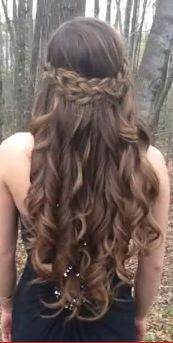 curly, braided prom hairstyle for medium-long hair. It is absolutely stunning.