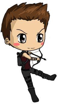 Hawkeye Chibi by IcyPanther1.deviantart.com on @deviantART