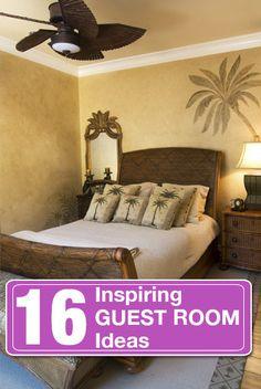16 inspiring guest room decor ideas.