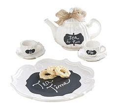 #MudPie Chalkboard #TeaSet  Price : $37.50 http://www.whimsicalumbrella.com/Mud-Pie-Chalkboard-Tea-Set/dp/B00KTTMNES #whimsicalumbrella