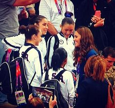 Duchess Catherine and Team USA gymnasts