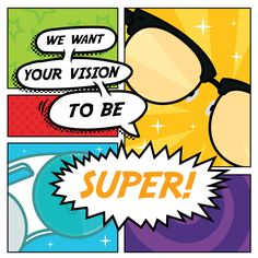 WHILE X-RAY and LASER vision might only be the stuff of comic books, you can keep your eyes healthy and strong with a good diet and regular eye exams! Blood Type Personality, Eye Jokes, Laser Vision, Exam Quotes, Eye Facts, Optical Shop, Eye Exam, Eyes Problems, Eye Doctor