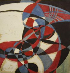 "repulsion66: "" Wassily Kandinsky, 1921 Geometric study in blue and red Gouache and watercolor on paper """