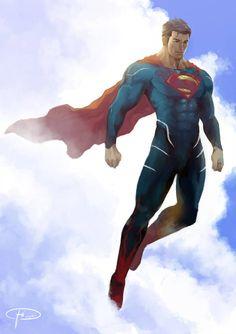 Superman Reimagined by hifarry on DeviantArt Supergirl Superman, Batman Vs Superman, Dc Comics Superheroes, Dc Comics Art, Comic Character, Comic Book Characters, Superman Artwork, Superman Man Of Steel, Super Hero Costumes