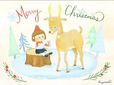 Christmas illustration by kazuemon