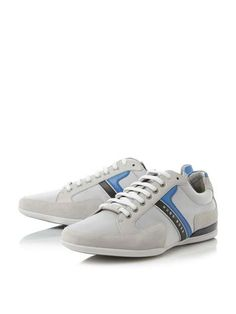 Hugo Boss Spacit Suede And Leather Trim Trainers