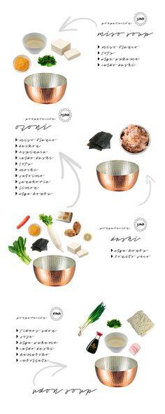 Estas sopas japonesas, son conocidas por muchos, por otros no tanto y  tienenen común que son ricas y sobre todo fáciles de preparar.  SOPA DE MISO  Esta sopa es un clásico que muchos ya habrán probado en los restaurantes  japoneses. Es sencilla de elaborar, deliciosa y muy sana, además es u