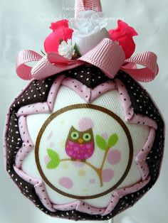 quilted | Quilted Christmas Ornament Hoot Owl by QuiltedKpskOrnaments