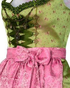 Silk & Pearls Dirndl short with apron   LODENFREY
