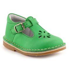 Green leather shoes - La Halle