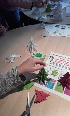 Atelier origami au CDI le lundi 12 décembre