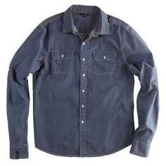 Sorry, our web store is paused for warehouse removal Denim Button Up, Button Up Shirts, Lifestyle Shirts, Chambray, Men, Tops, Fashion, Moda, La Mode