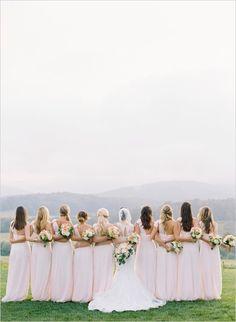 Lovely bridesmaids in pink captured by Elisa Bricker. #wchappyhour #weddingchicks http://www.weddingchicks.com/2014/10/14/elisa-bricker/