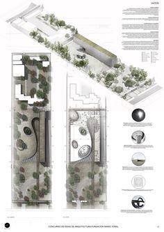 Mención Honrosa Concurso de Ideas Museo Mario Toral by MEMA Arquitectos… Landscape Architecture Drawing, Landscape And Urbanism, Architecture Panel, Landscape Concept, Architecture Graphics, Concept Architecture, Amazing Architecture, Landscape Design, 3d Modelle