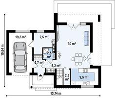 Проекты домов с гаражом – заказать готовый проект дома с гаражом в Украине | DOM4M