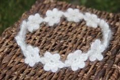 Crochet White Headband Wedding hair  Wholsale  by TheKnitBeyond
