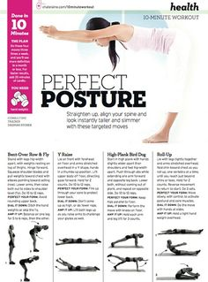 perfect posture - having posture problems? here's a few exercises to improve posturehaving posture problems? here's a few exercises to improve posture Posture Fix, Bad Posture, Improve Posture, Cardio Yoga, Yoga Beginners, Fitness Tips, Fitness Motivation, Health Fitness, Workout Fitness