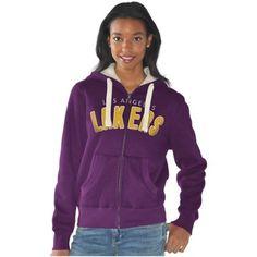 Los Angeles Lakers Women's Practice Full Zip Hoodie - Purple