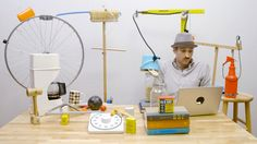 Kinetic artist Joseph Herscher demonstrates why we love these ridiculous devices with an exclusive Co.Create Rube Goldberg machine!