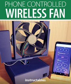 Projects with Red created this wireless fan that can be fully controlled using your phone over WiFi. #Instructables #electronics #technology #Arduino #3Dprint Useful Arduino Projects, Wifi Names, Arduino Board, Everything Is Connected, Wifi Password, Stepper Motor, Power Cable, Fun Projects, Fan