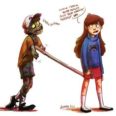 AU where dipper gets himself in a permanent undead situation but mabel has letting go issues so she keeps him around as a zombified pet type thing… she totes him around on a control pole and keeps him fed with dead animals and fiercely pretends there's a smidgeon of her brother left in his groaning rotting hungry-for-her-flesh husk of a bodyhurrayyyoh and the arms had to go because of one too many grabby close calls