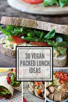 Whether you're doing Veganuary, you're a long term vegan or you just want to eat more veg this year, what on earth to take to work for your packed lunch can be tricky. Here I've collate 30 delicious vegan packed lunch ideas to make your life just that little bit easier.
