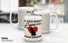 All You Need is LOVE Dog Breed 15 oz. by PetInksDesignStudio
