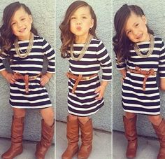 Minus the makeup and grownup hairstyle. I could see my girls rocking this ;)