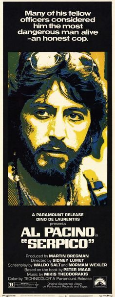 Al Pacino portray of Serpico is amazing.... Serpico's parents were born 3 doors down from where I was born