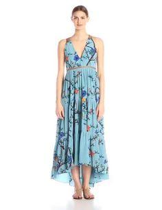 Amazon.com: Tracy Reese Women's Tiered Halter Maxi Dress: Clothing