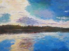 landscape painting, acrylic on canvas, small scale