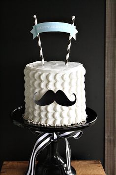 "moustache theme birthday party | Little Mister"" Mustache Birthday Party…"